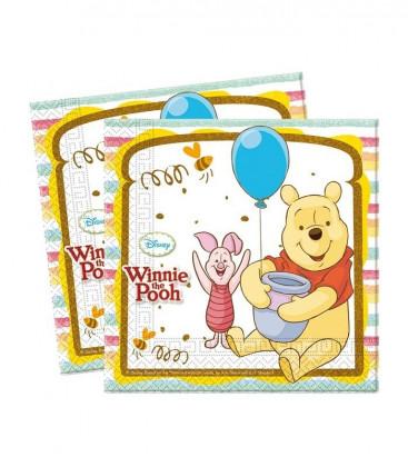 Winnie the Pooh - Tovaglioli 33x33 cm - 20 pezzi
