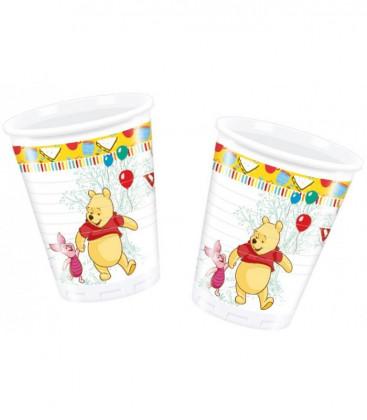 Winnie the Pooh - Bicchiere Plastica 200 ml -8 pezzi