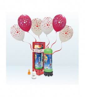 Kit Elio MEDIUM + 12 palloncini assortiti stampa Cuori - Ø 30 cm