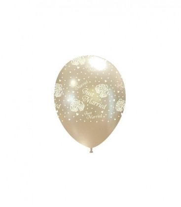 "Palloncini perla con stampa ""Just Married"" - Ø 27 cm - 50 pezzi"