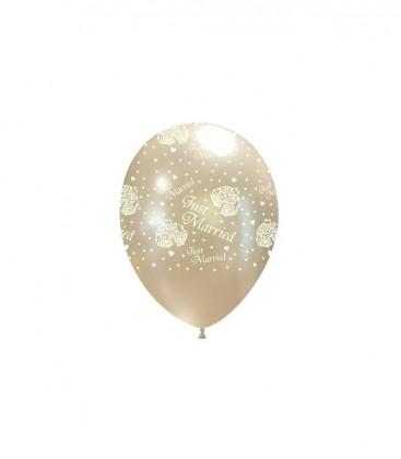 "Palloncini perla con stampa ""Just Married"" - Ø 27 cm - 50 pezzi"