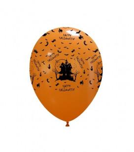 Palloncini stampa Happy Halloween biodegradabili - Ø 27 cm - 50 pezzi