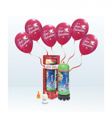 Kit Elio MEDIUM + 12 palloncini rossi San Valentino - Ø 30 cm