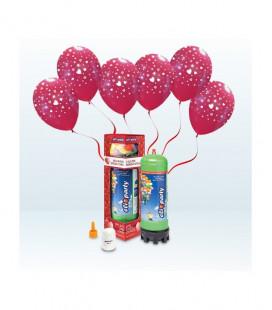 Kit Elio MEDIUM + 12 palloncini rossi stampa Cuori - Ø 30 cm