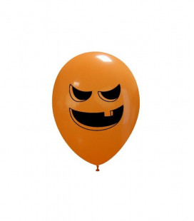 Palloncini Halloween Zucca cattiva - Ø 27 cm - 50 pezzi